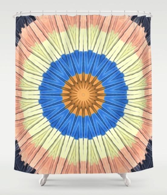 Textural Circles Shower Curtain