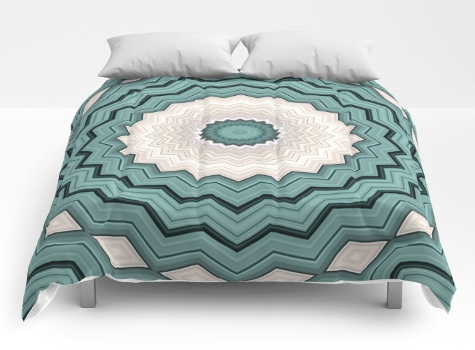 Abstract Turquoise Bed Comforter