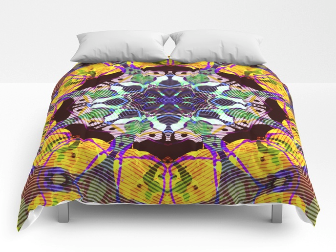 Concentric Colors Abstract Comforter