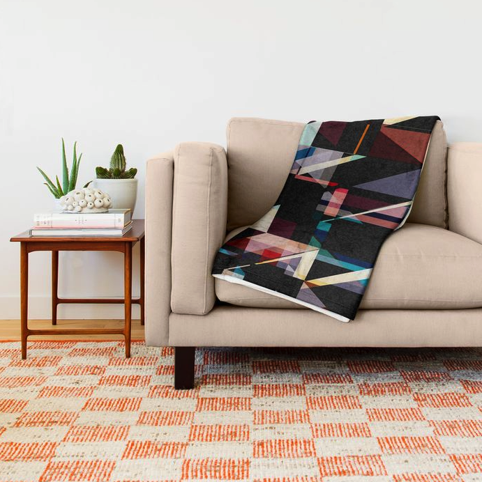 Abstract Geometric Throw Blanket