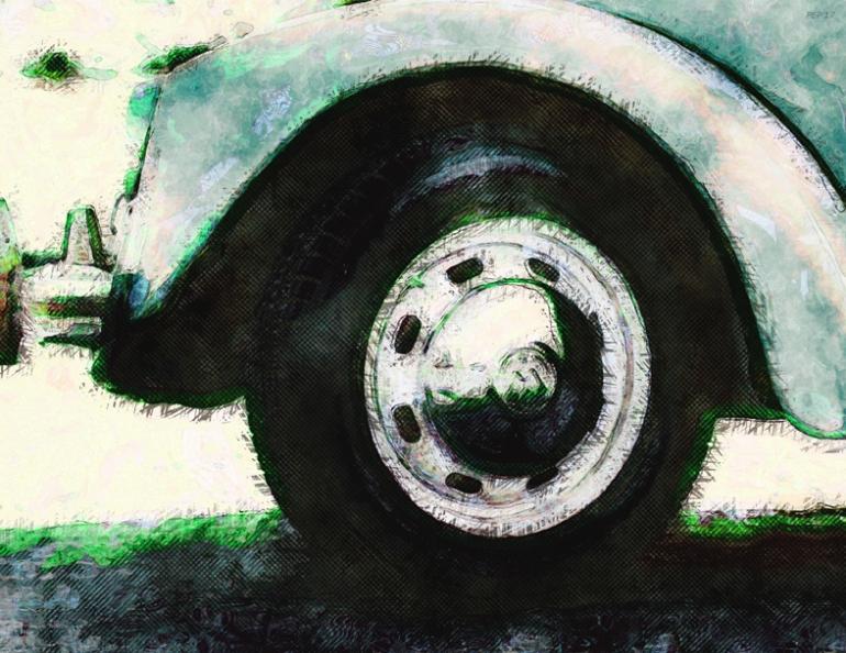 wheel, car, automobile, vehicle, front wheel, digital art, photography, grunge, digital painting, texture, bumper, still life