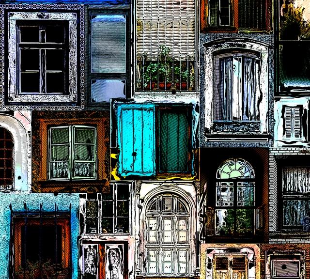 Textural Windows Collage