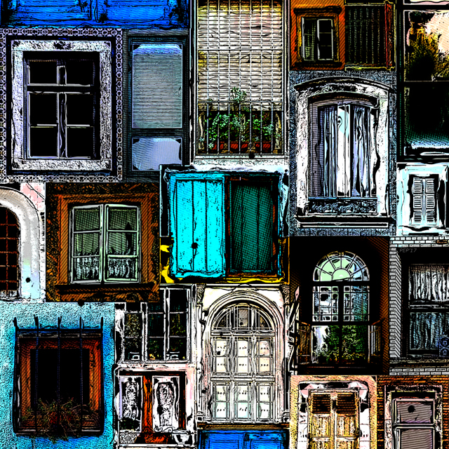 Textural Windows Collage