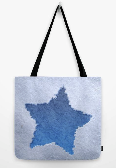 Star In The Snow Tote Bag