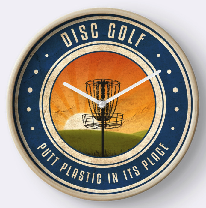 Disc Golf Sunrise Wall Clock