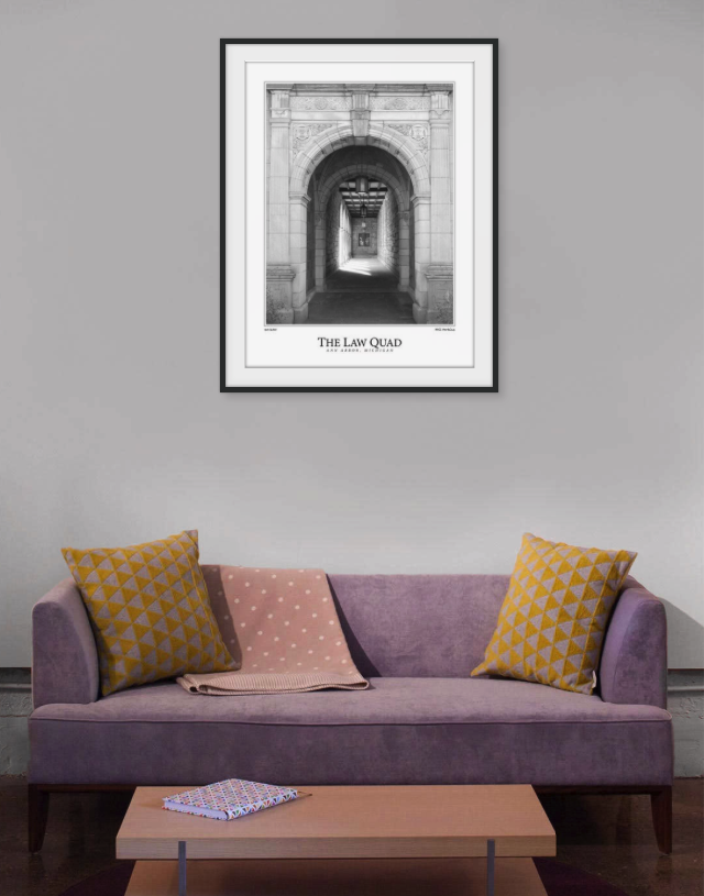 University of Michigan Law Quad Framed Print