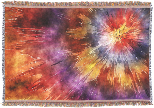 Colorful Rings Tie Dye Throw Blanket
