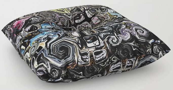 Abstract Distorted Shapes Floor Pillow