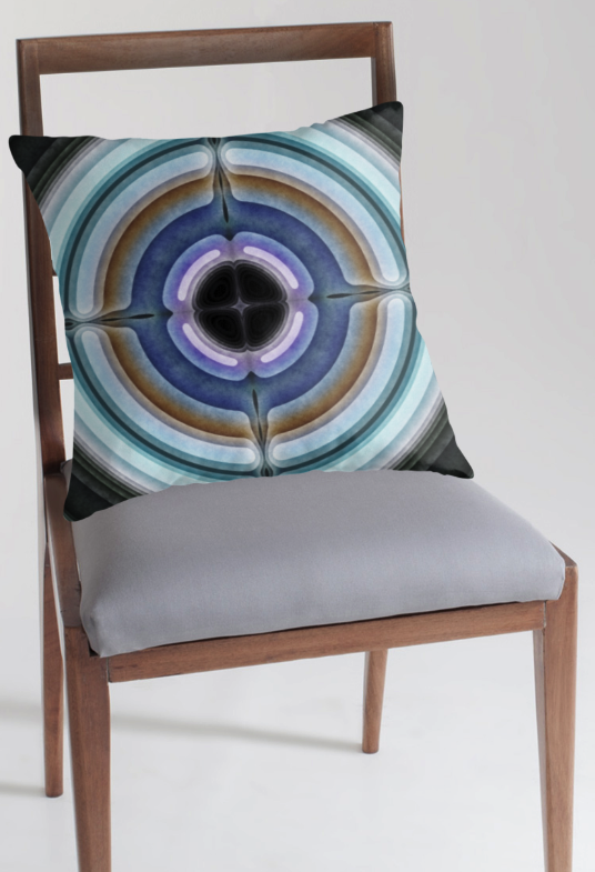 Textured Circular Pattern Throw Pillow