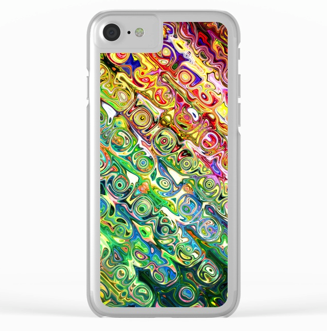 Digital Glass Clear iPhone Case