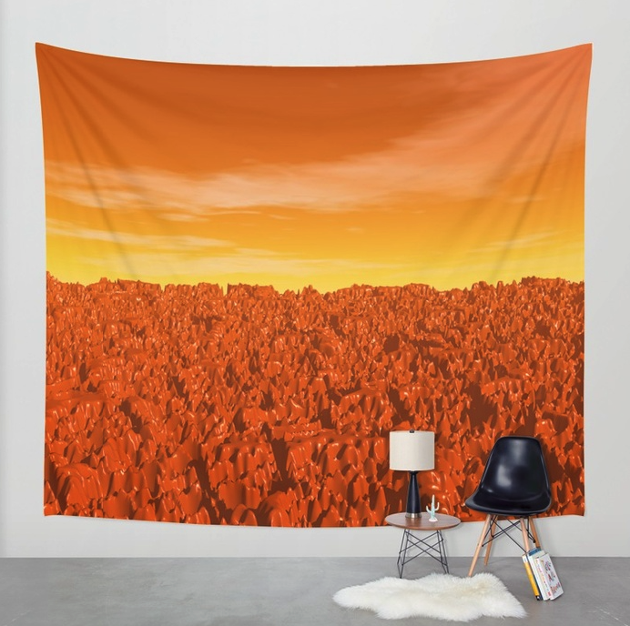 Sunrise On Planet Mars Wall Tapestry