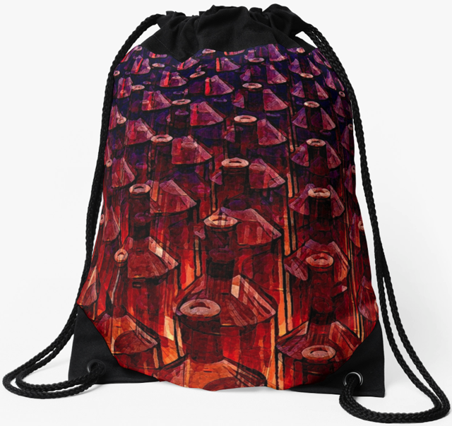 Brown Glass Bottles Backpack