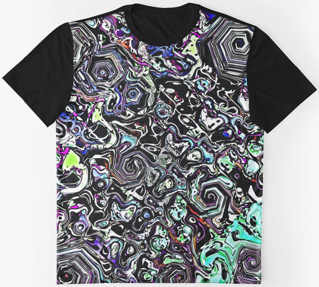 Colorful Abstract Chaos Graphic T-shirt