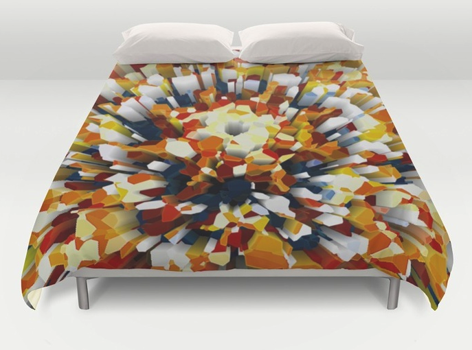 Colorful 3D Extrusion Duvet Cover
