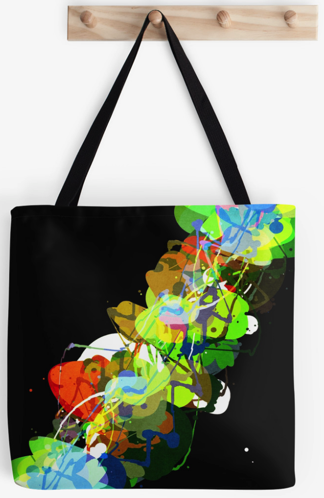 Large Abstract Painting Tote Bag