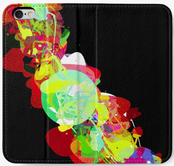 Colorful Abstract Painted iPhone Wallet