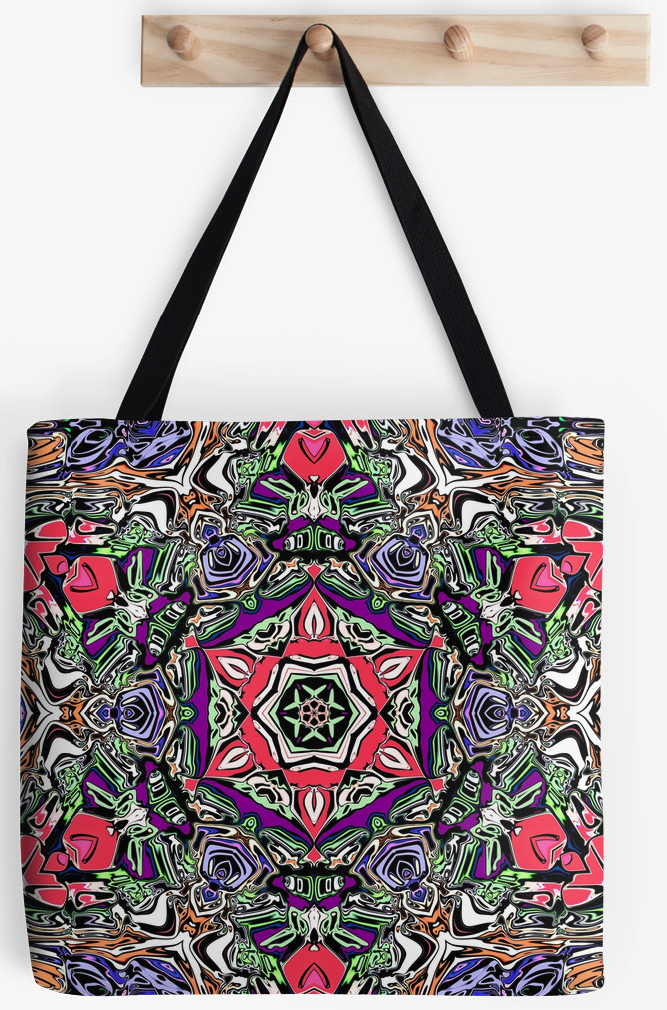 Abstract Colorful Pattern Tote Bag