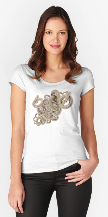 Gold Rings Women's Fitted Scoop T-Shirt