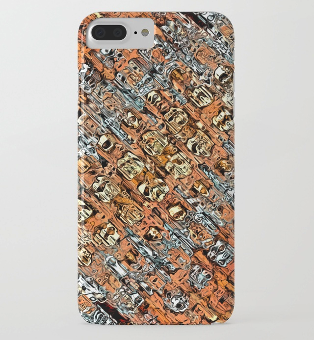 Abstract Orange Pattern iPhone 7 Plus Case