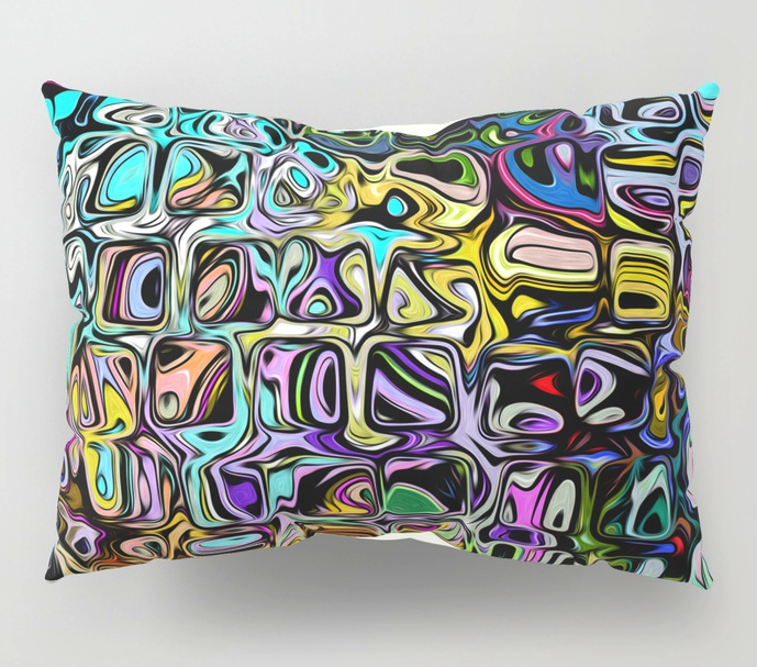 Blended Colors Abstract Pillow Shams