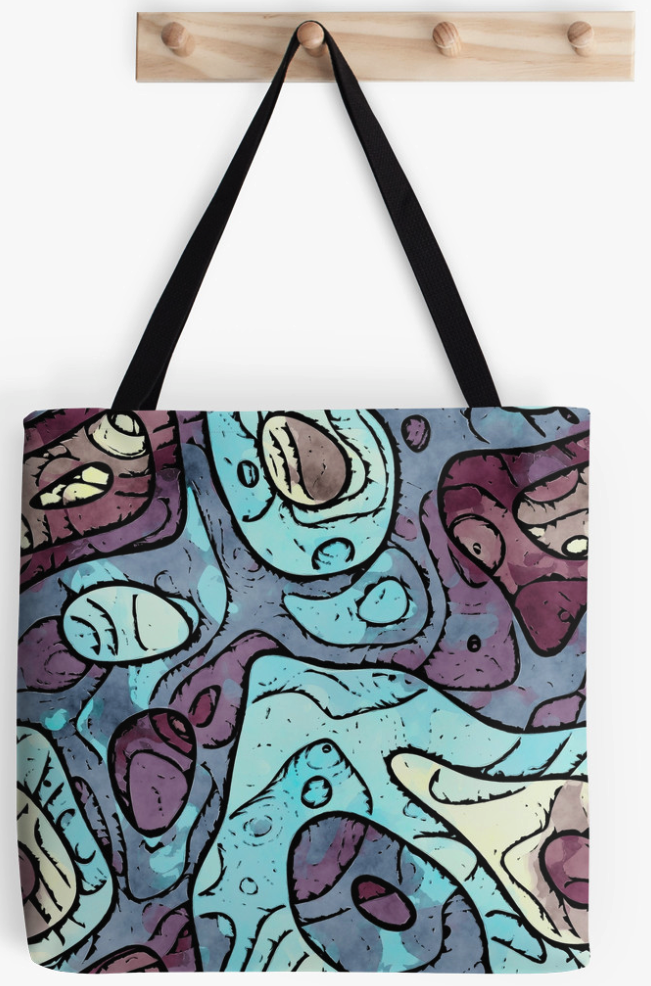 Abstract Layers Pattern Tote Bag