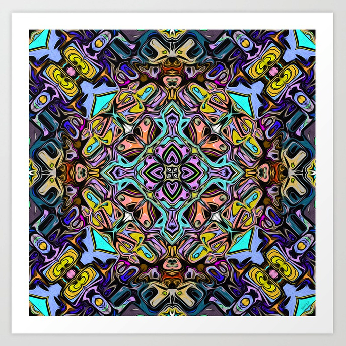 Abstract Stained Glass Poster