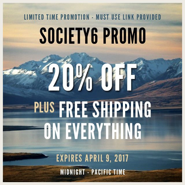 Limited Time Promo Offer At Society 6