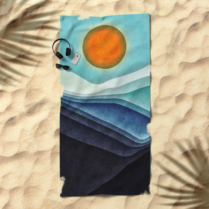 Sea And Sun Summer Beach Towel