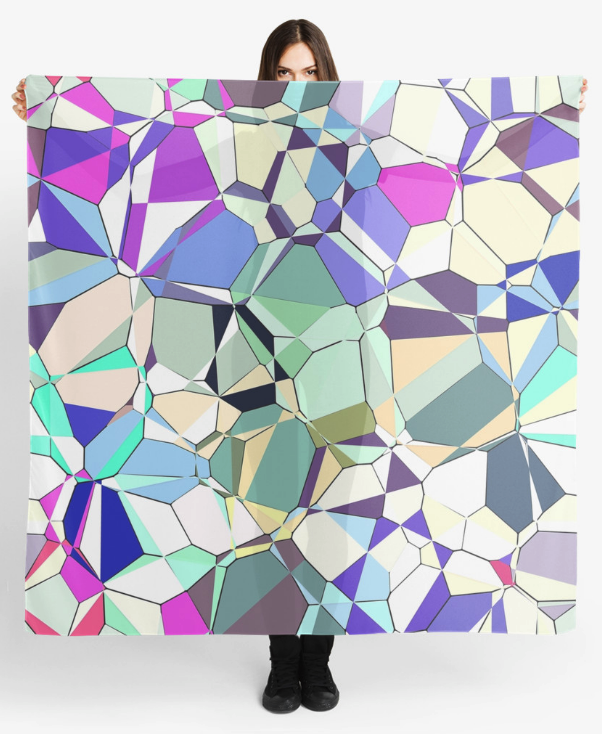 Abstract Geometric Pattern Women's Scarf