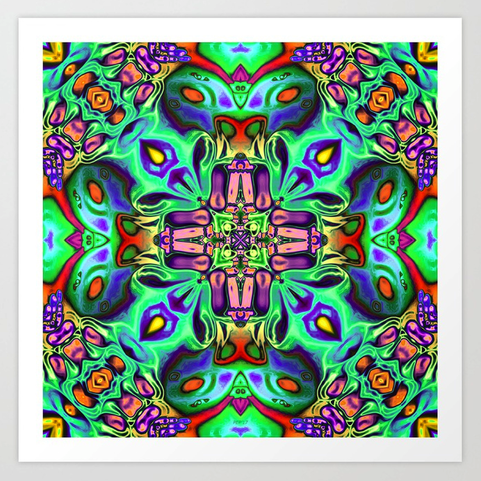 Colorful Poster of Abstract Symmetry