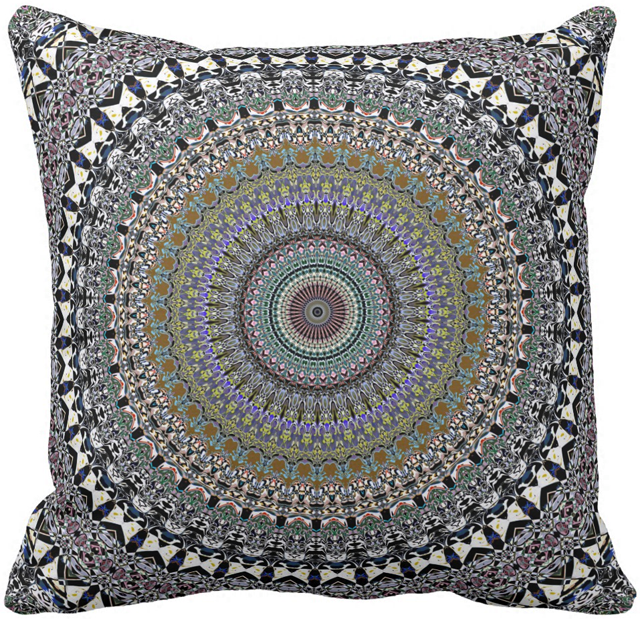 Classic Ornate Pattern Throw Pillow