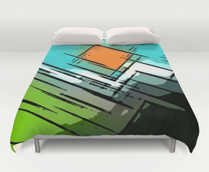 Sunshine In The Mountains Duvet Cover