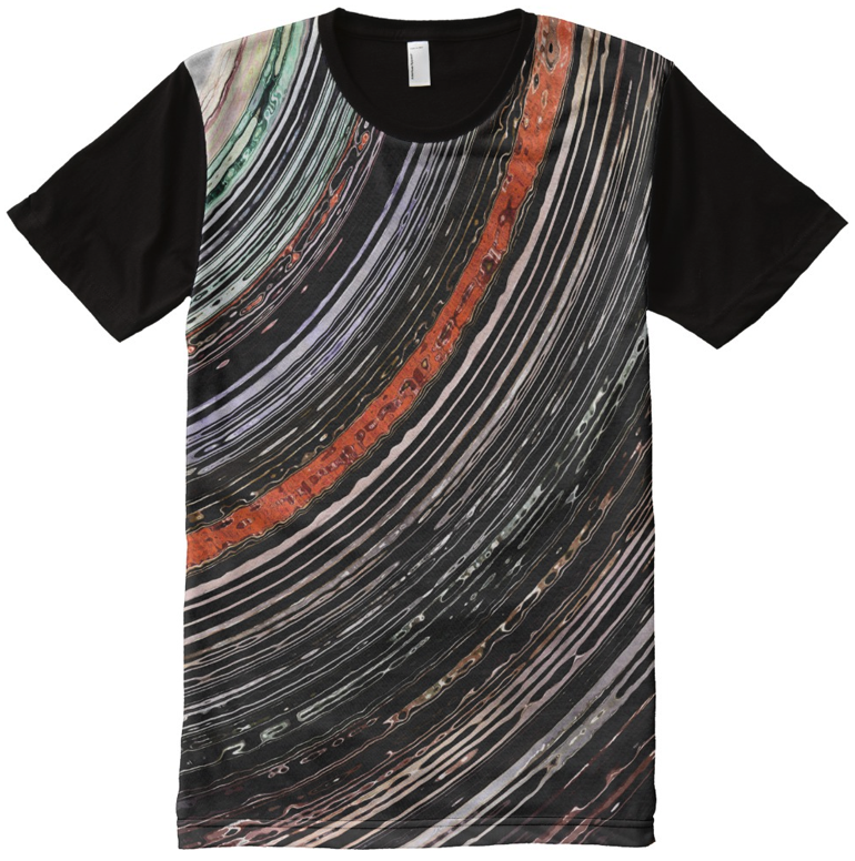 Textural Earth Tone Rings All-over Print T-shirt