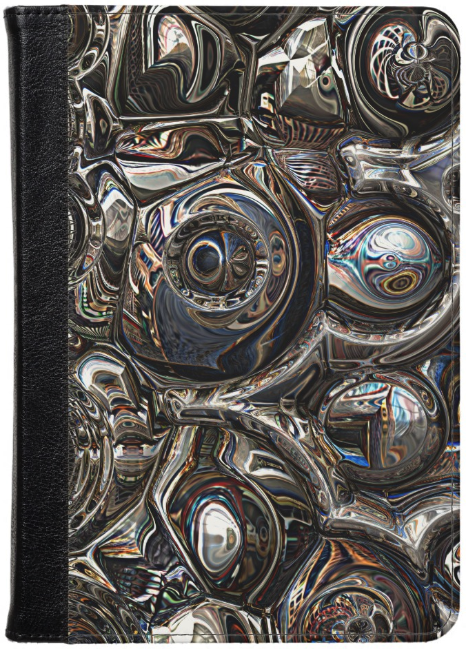 Abstract Metallic 3D Kindle Case