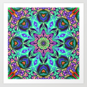 Turquoise Mandala Abstract