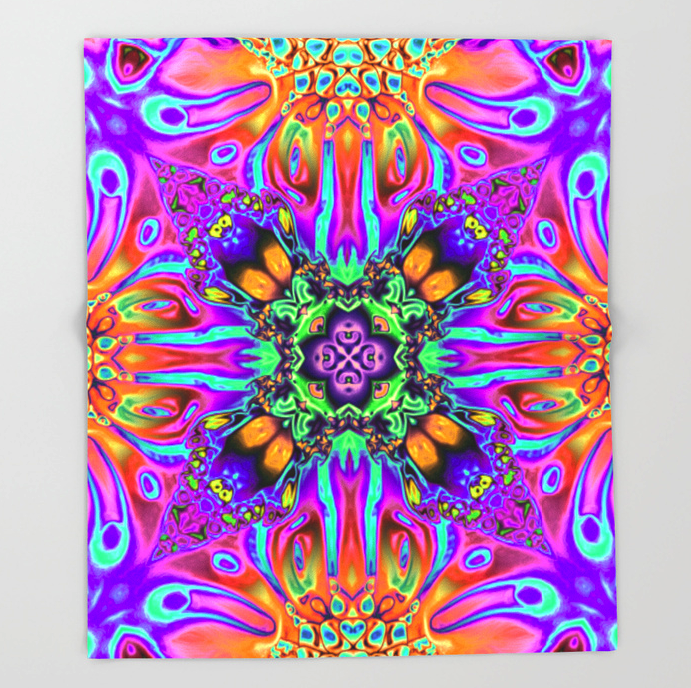 Vibrant Abstract Pattern Throw Blanket