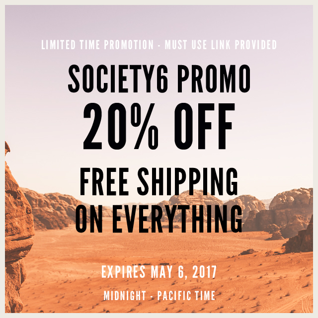 Limited Time Sales Promotion At #Society6