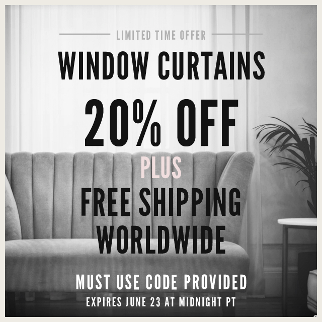 Window Curtains On Sale 20% Off