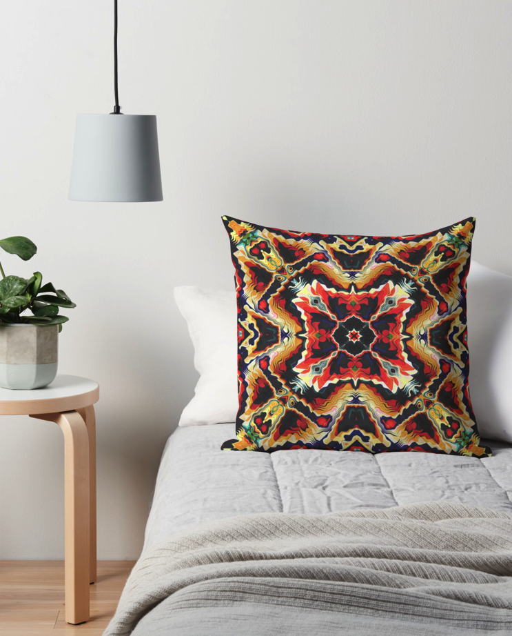 Colorful Tribal Pattern Throw Pillow