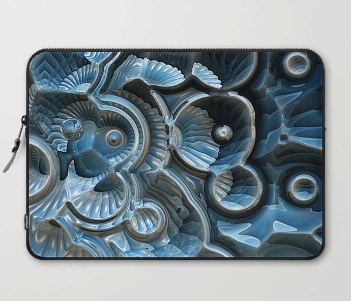 Fractal Fossil Laptop Computer Sleeve
