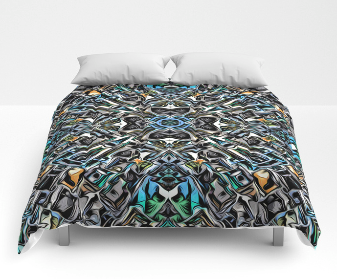 Abstract Silver Pattern Comforter