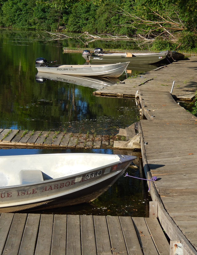 Rustic Dock With Boats