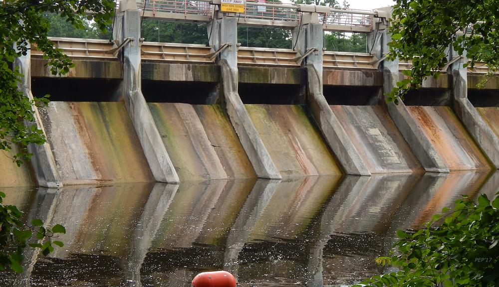 The Barton Dam On Huron River