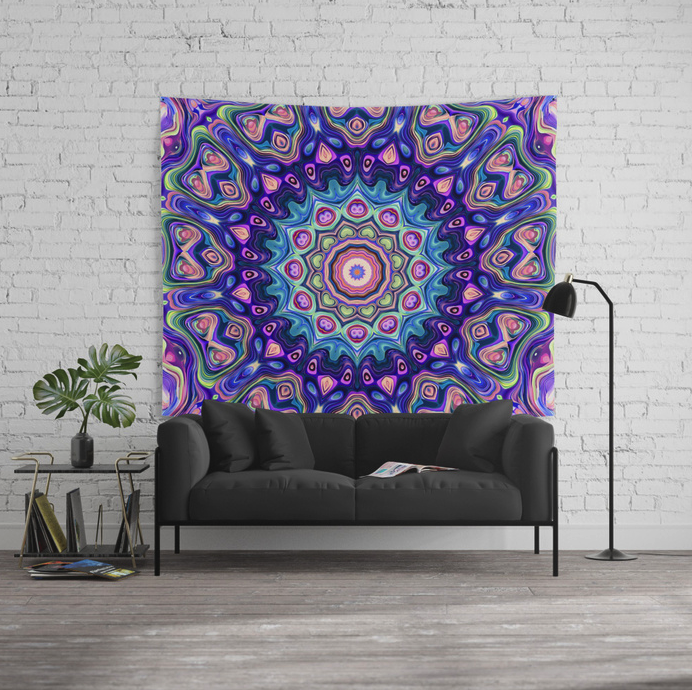 Colorful Kaleidoscope Wall Tapestry