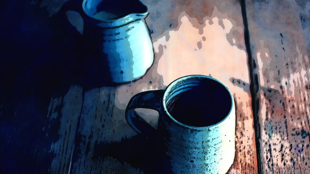 Kitchen Table Coffee Cup Still Life