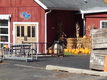 Dexter Cider Mill with autumn pumpkin harvest display