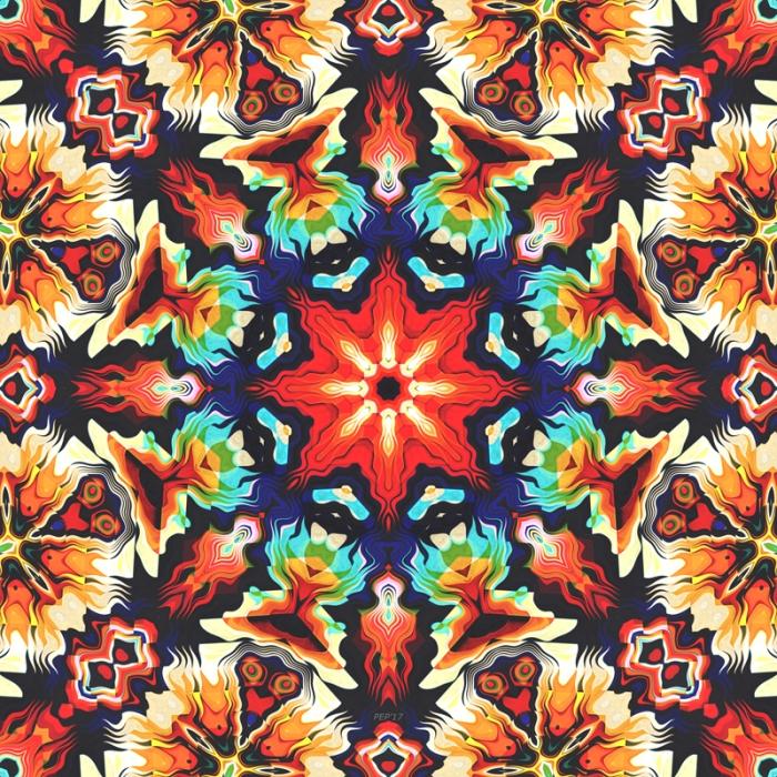 Colorful Geometric Aztec Pattern