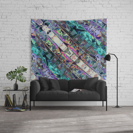Colorful Abstract Pattern Wall Tapestry