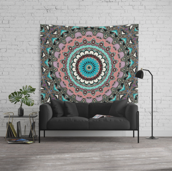 Intricate Layers Mandala Wall Tapestry