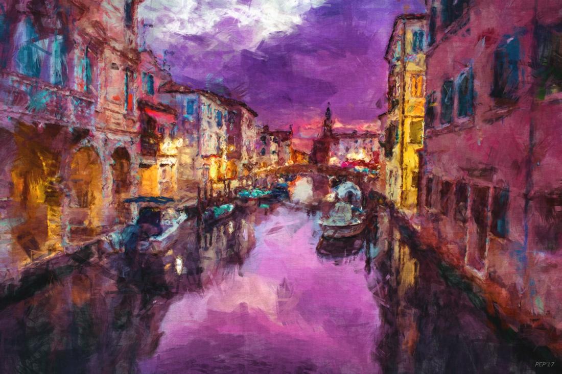 Twilight On Venice Canal